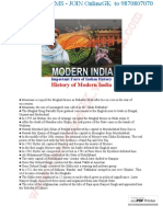 Important Facts of Indian History - Modern India (1)