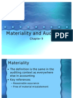 Materiality and Audit Risk
