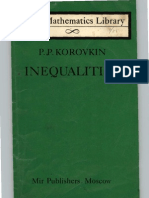 P. P. Korovkin - Inequalities (Little Mathematics Library)
