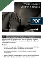 Violence Against Children in Tanzania