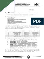 DM No. 180, s. 2010 - Reclassification of School Head