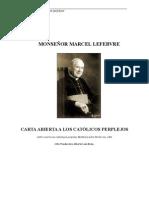 Carta Abierta a Los Catolicos Perplejos(Mons Lefebvre)