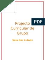 Projecto Curricular de Grupo 4 Anos