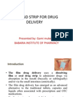 Buccal Drug Delivery