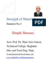 Strength of Materials- Simple Stresses- Hani Aziz Ameen