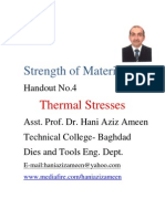 Strength of Materials- Thermal Stresses- Hani Aziz Ameen