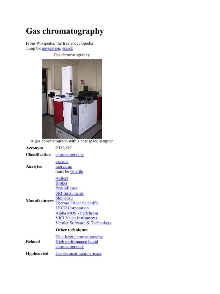 Gas Chromatography   Gas Chromatography   Chromatography