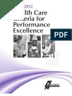2011 2012 Health Care Criteria