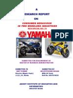 Yamaha Marketing ConsumerBehaviour Final With Graphs