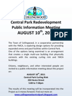 Central Park Meeting Flyer