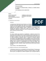 2009 Aportaciones para los Servicios de Educación Básica y Normal en el Distrito Federal. Secretaría de Educación Pública (ramo 25)