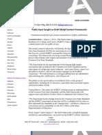 Public Input Sought on Draft Model Content Frameworks
