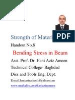 Strength of Materials- Bending Stress in Beam- Hani Aziz Ameen