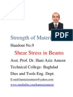 Strength of Materials- Shear Stress in Beams- Hani Aziz Ameen