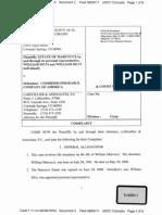 ESTATE OF MARCUCCI et al v. COMBINED INSURANCE COMPANY OF AMERICA Complaint