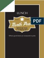Lunch Menu North Peak Brewing Company