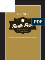 Dinner Menu North Peak Brewing Company