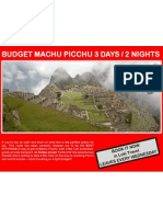 Budget Machu Picchu 3 Days - 2 Nights