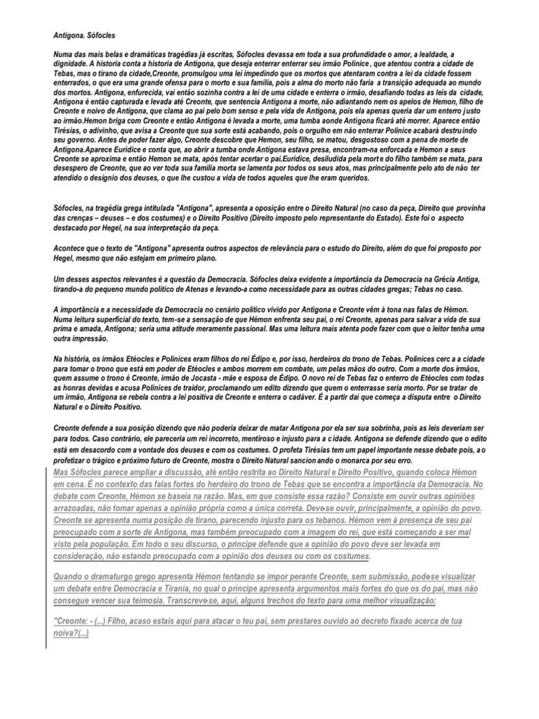 SOFOCLES LIVRO ANTIGONA BAIXAR DE