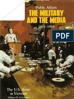 Public Affairs the Military and the Media, 1962-1968
