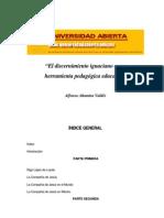Altamira Valdez, Alfonso. Discernimiento y Pedagogia Ignacia