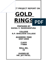 GOLD RING MBA Porject Report Prince Dudhatra