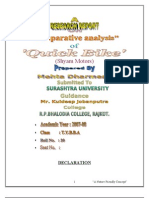 QUICK BIKE MBA Porject Report Prince Dudhatra