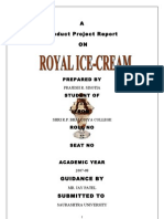 ROYAL ICE CREAM P. MBA Porject Report Prince Dudhatra