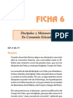 Ficha 6 - Discipulos y Misioneros en Comunion Eclesial