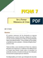 Ficha 7 - Ser y Formar Misioneros de Cristo
