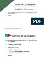 Grammar of Conversation - PresentationBiber