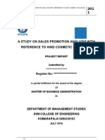 MBA Project Report-Sales Promotion