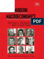 Snowdon, B. and H. Vane (2005) Modern Macroeconomics