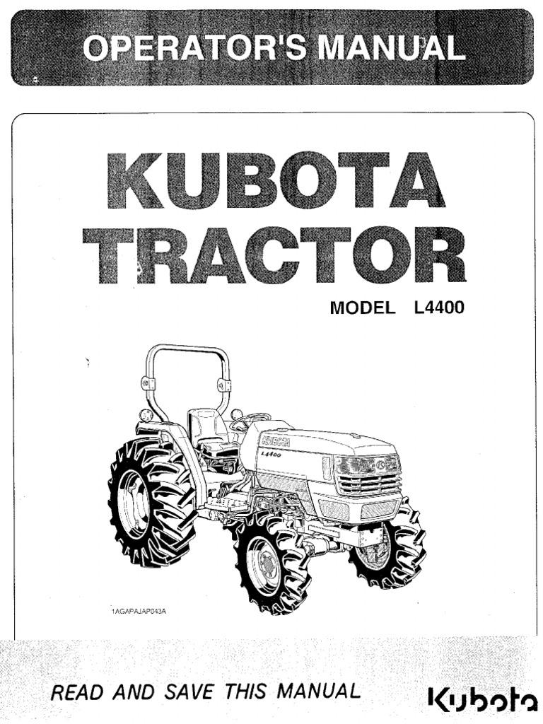 L4400 operator manual kubota l4400 operator manual pooptronica Images