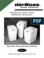 WaterBoss Softener V4 Manual