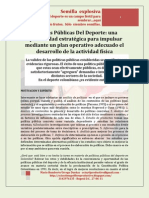 Una oportunidad de acción-formular polìticas publicas del deporte. MARIO URREGO-27-06-11