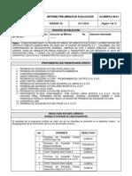 Informe Evaluacion Preliminar Lp 001 2011