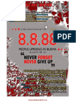 23rd Anniversary of 8888 Burma Uprising - SF Burmese Event - Booklet