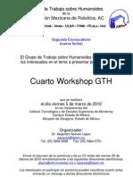 Convocatoria Cuarto Workshop