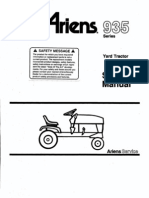 Ariens YT series Service Manual, 935 series tractors