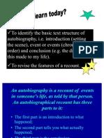 Autobiography as a Recount