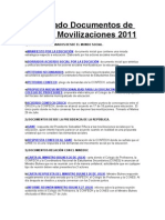 Compilado Documentos de Interés  Movilizaciones 2011