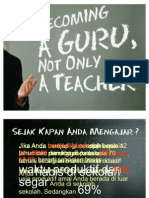 Becoming a Guru, Not Only a Teacher 2