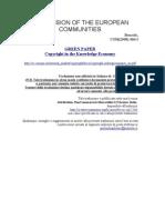 Green Paper Carta Verde sul diritto d'autore tradotta in intaliano