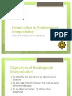Oral Radiology. Dental Caries and Periodontal Disease