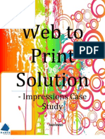 Web to Print Solution - Impressions Case Study