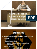 Ch 16 Standard Costing, Variance Analysis, Kaizen Costing