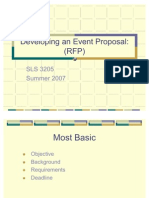 Developing an Event Proposal