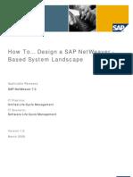 How to Design a SAP Netweaver Based System Landscape