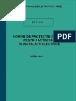 PE 119 - Norme de Protectia Muncii Pt Activitati in Instalatii Electrice